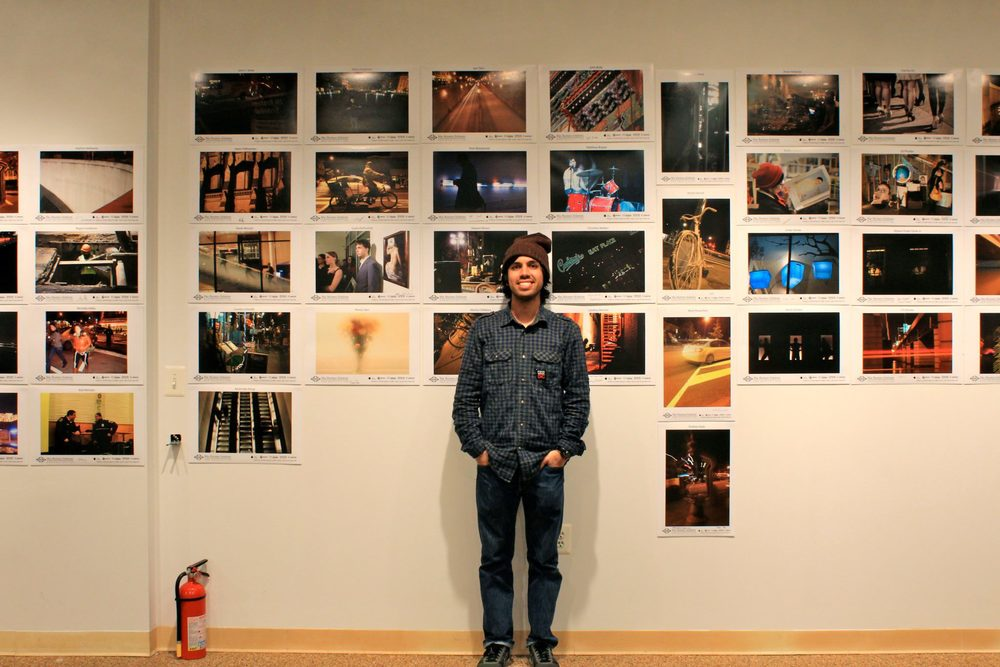 Massoud in front of his project for DC Foto week 2013