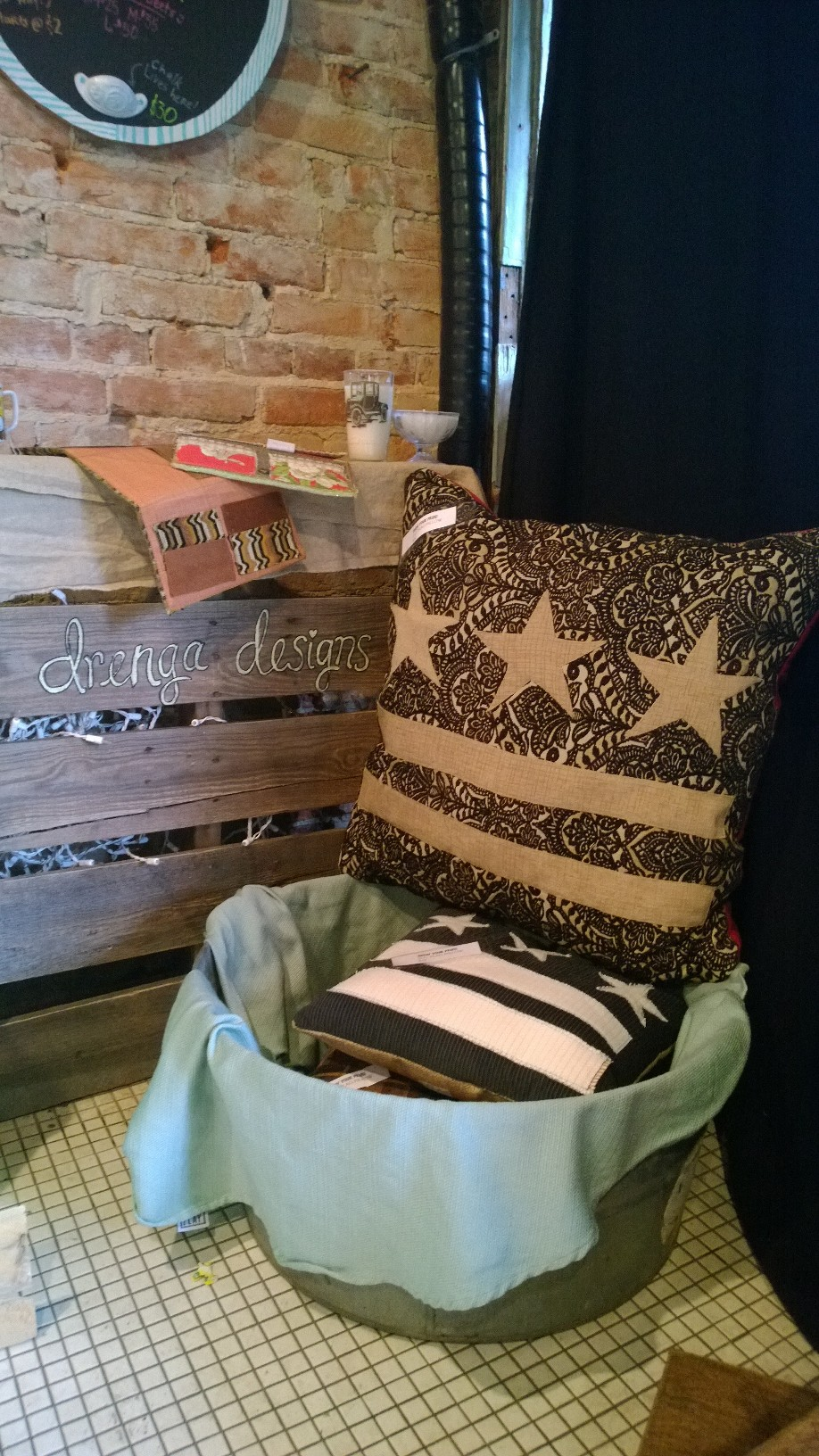 Custom DC Flag pillows by Drenga Designs