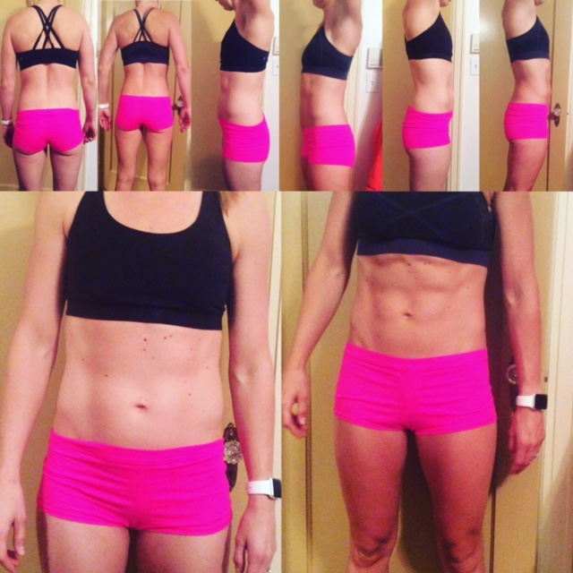 Female 4 week CrossFit body transformation