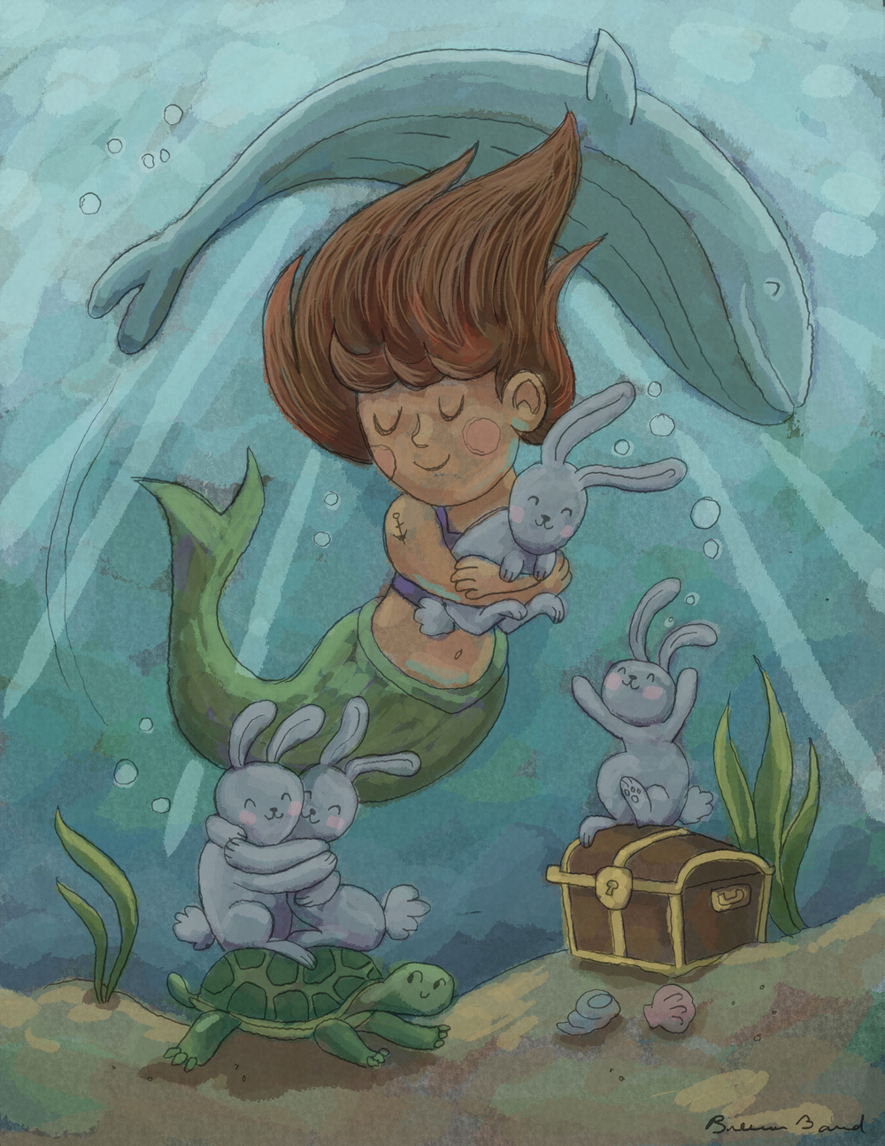 Mermaid Bunny Hug