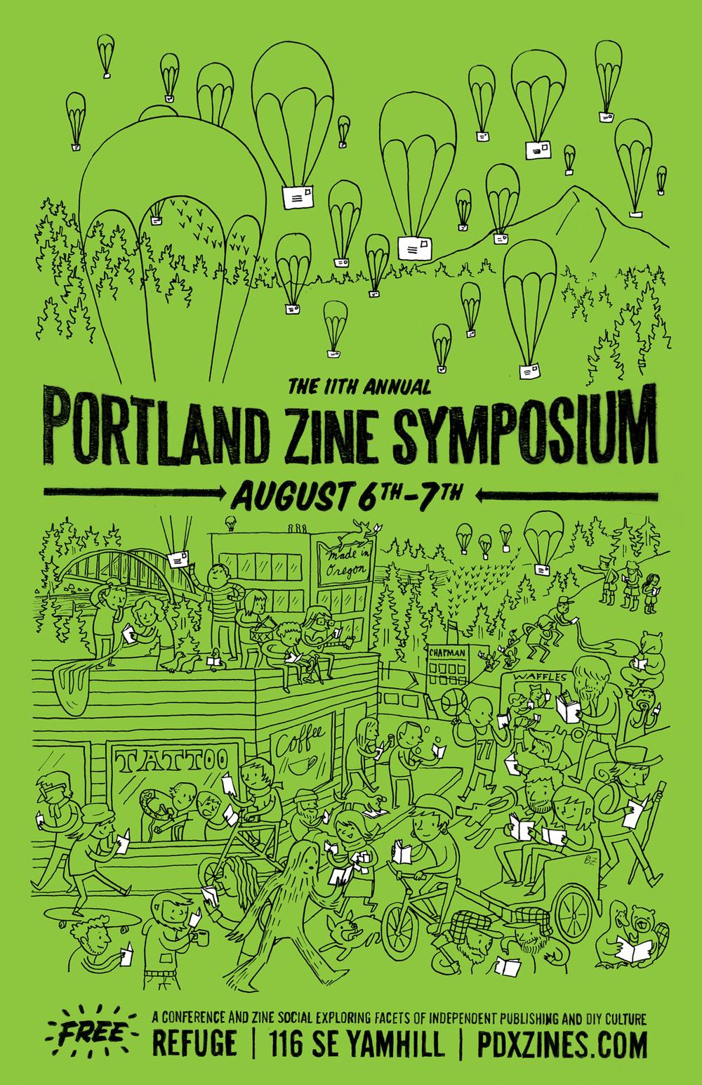 Portland Zine Symposium Poster