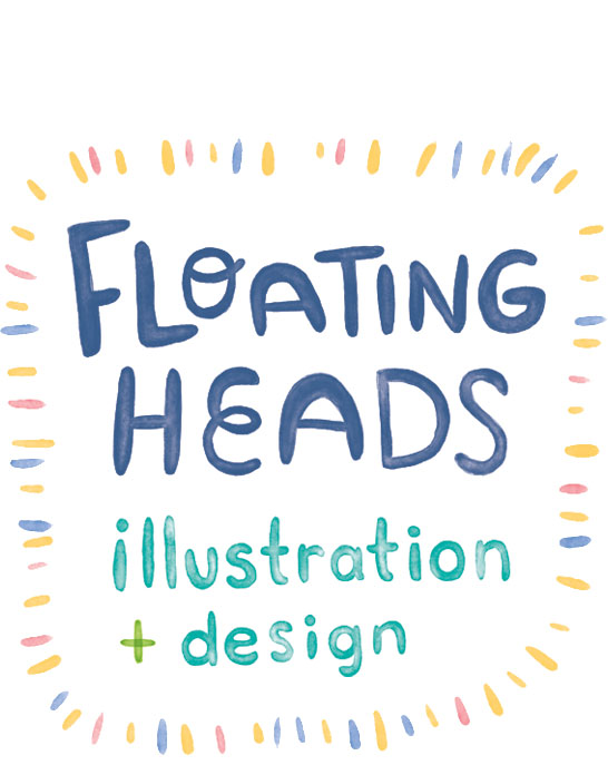 Floating Heads Illustration