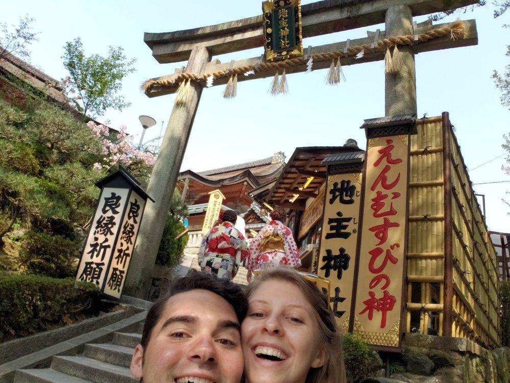2 heads in kiyomizu-dera