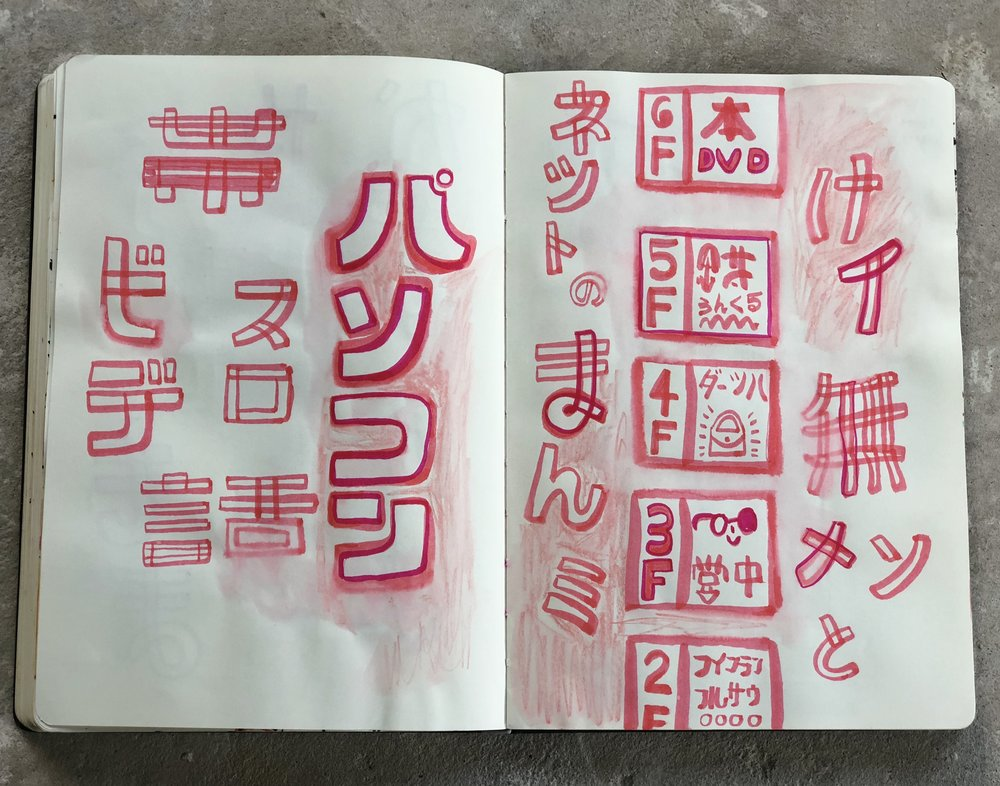 Drawing Japanese kanji, katakana, and hirigana