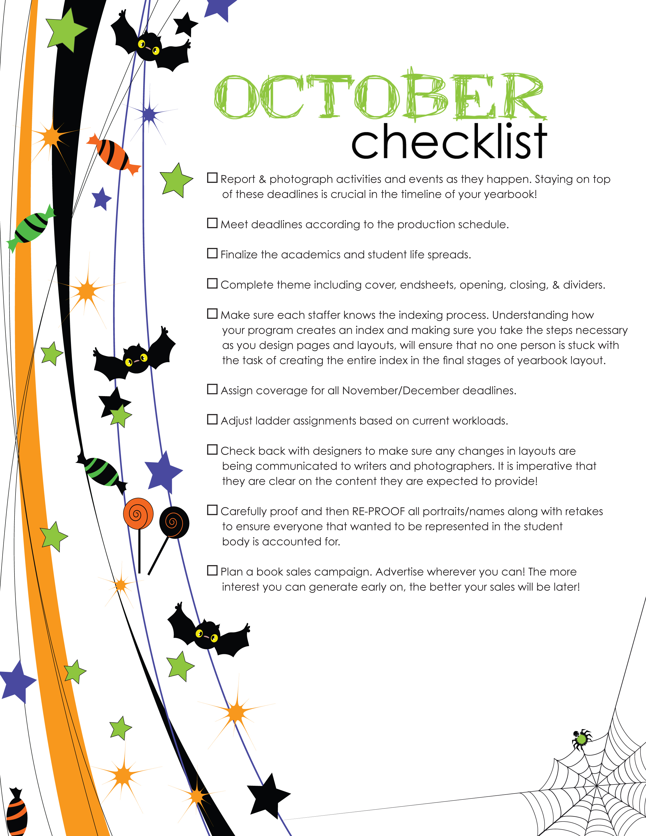 Spooked by yearbook organization pictavo - Gardening in october a brief to do list ...