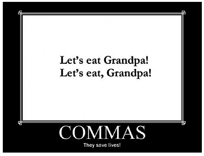 Proof that proper punctuation could save a life!