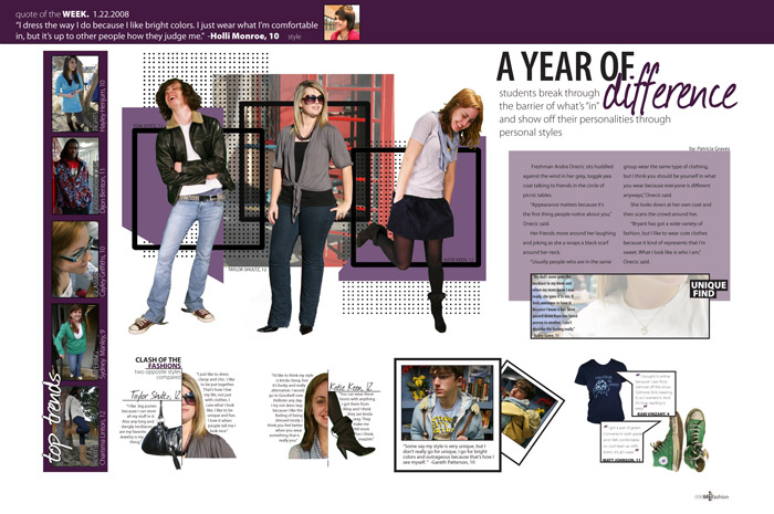 flashback friday inspiring yearbook page design ideas from the past pictavo - Yearbook Design Ideas