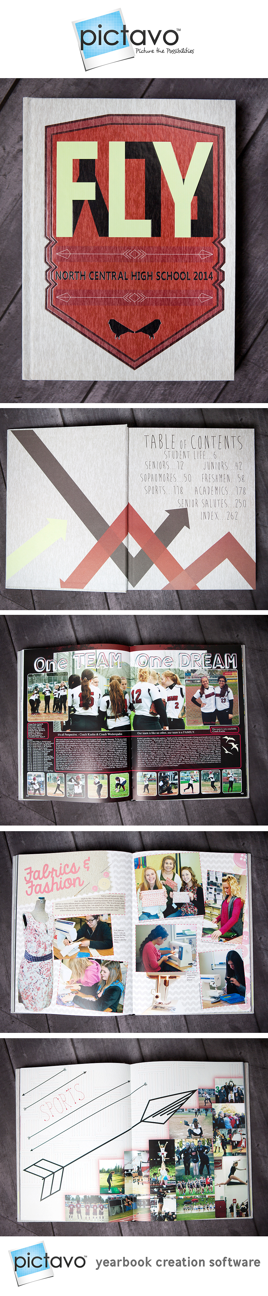 Great use of theme in all parts of a yearbook.