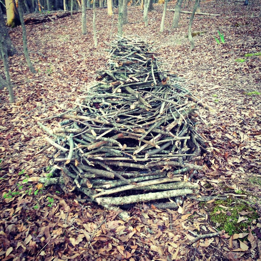 Wooden Cairn 02. Athens, GA. Spring 2013. Instagram filtered.