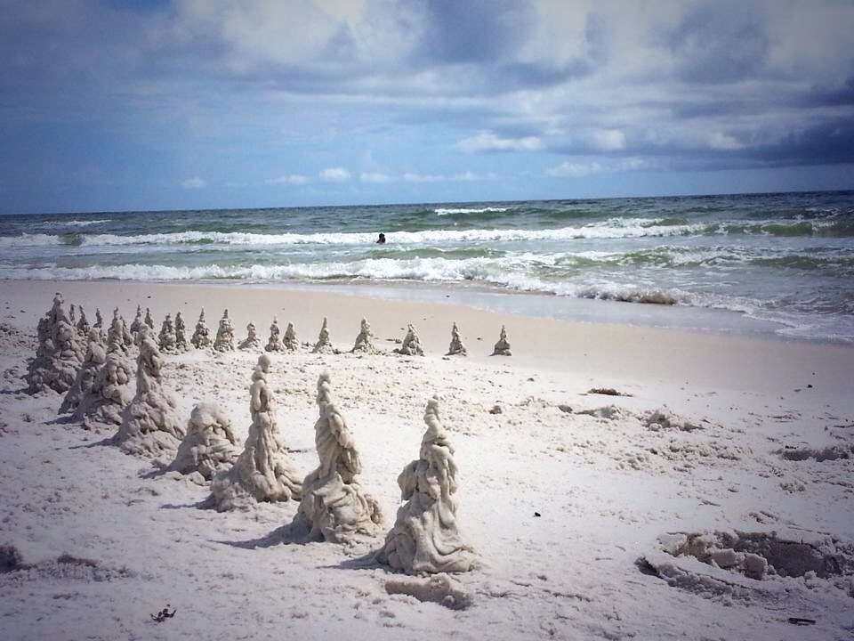 Beach sentries. Cape St. San Blas, FL. Summer 2013.