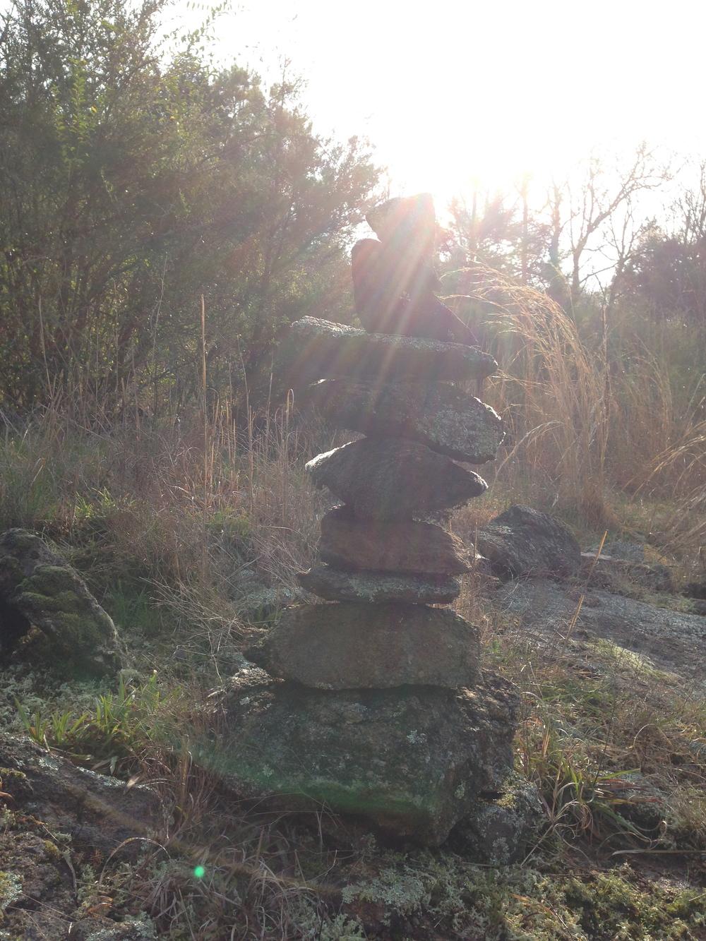 Stacked stone. Athens, GA. Spring 2014
