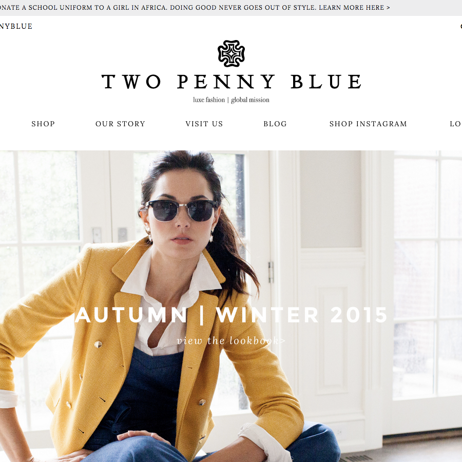 TWO PENNY BLUE WEBSITE DESIGN