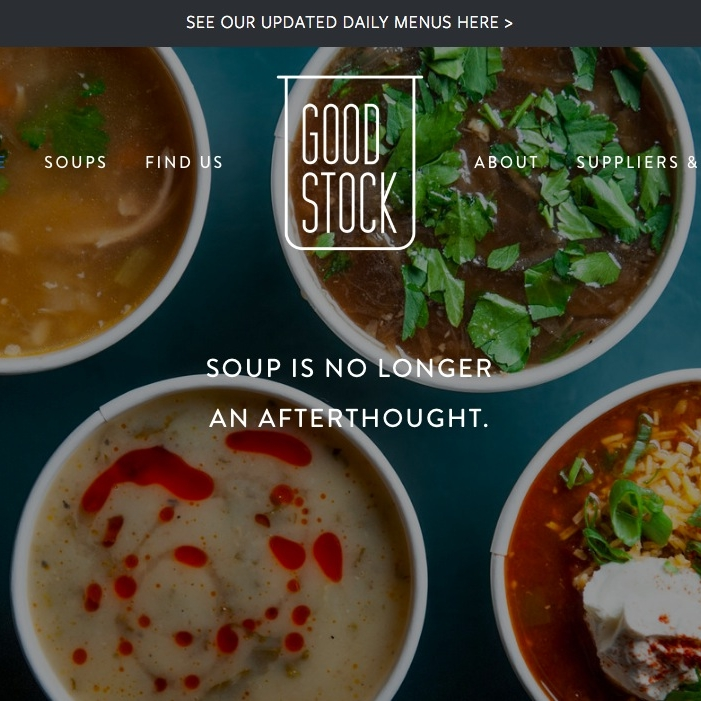 GOOD STOCK SOUPS WEBSITE DESIGN