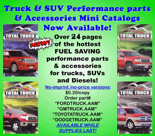 Total Truck Vehicle Specific Mini Catalogs - click below to check out the mini-catalogs: