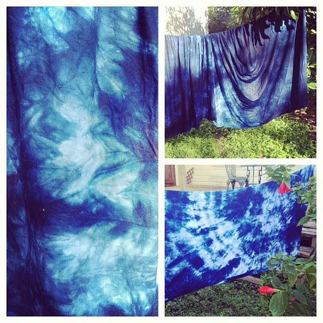 All EO garments are hand dyed. These two large pieces are for jumpsuits and henleys. #indigo #fashion #style #maker