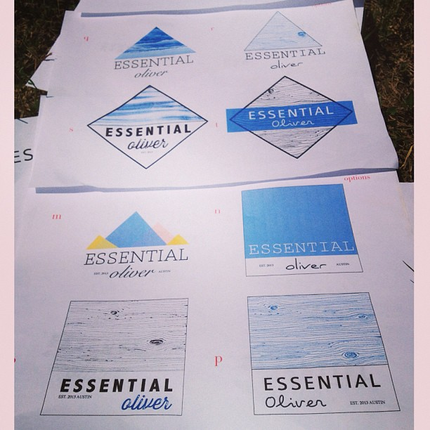 Reviewing logo options for the new line, with advice from the @skillshare fashion class. What do you think @jeffstaple ?