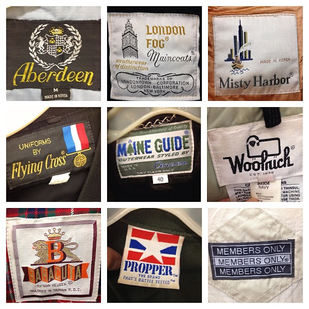 Researching vintage clothing line labels