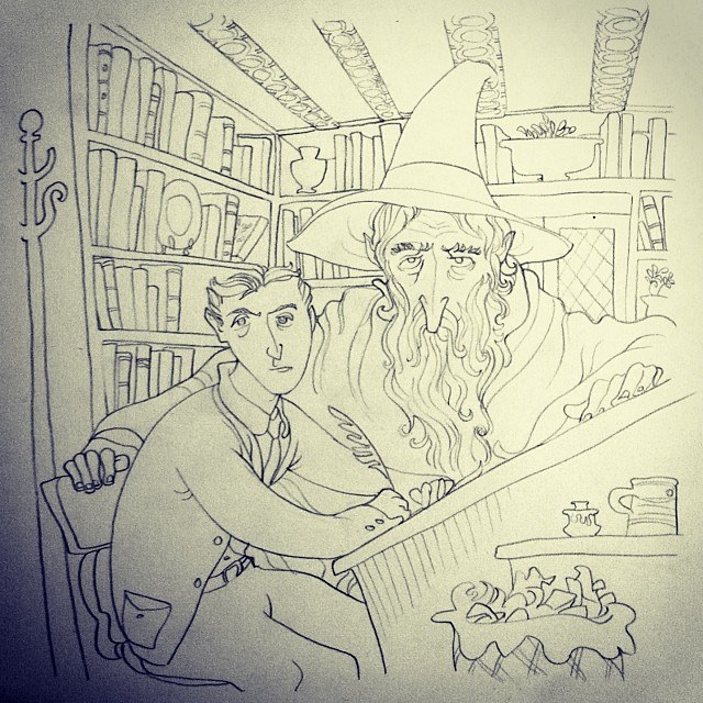 Tolkien and Gandalf 2 - Benjamin Schipper