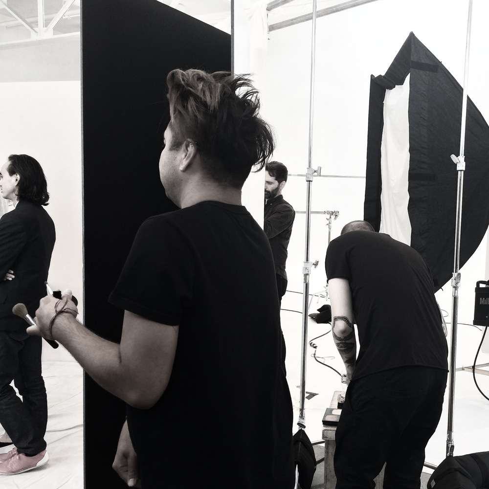 Shooting the new look for a well known cosmetics brand at MILK Studios in LA. Coming Jan 2015 !