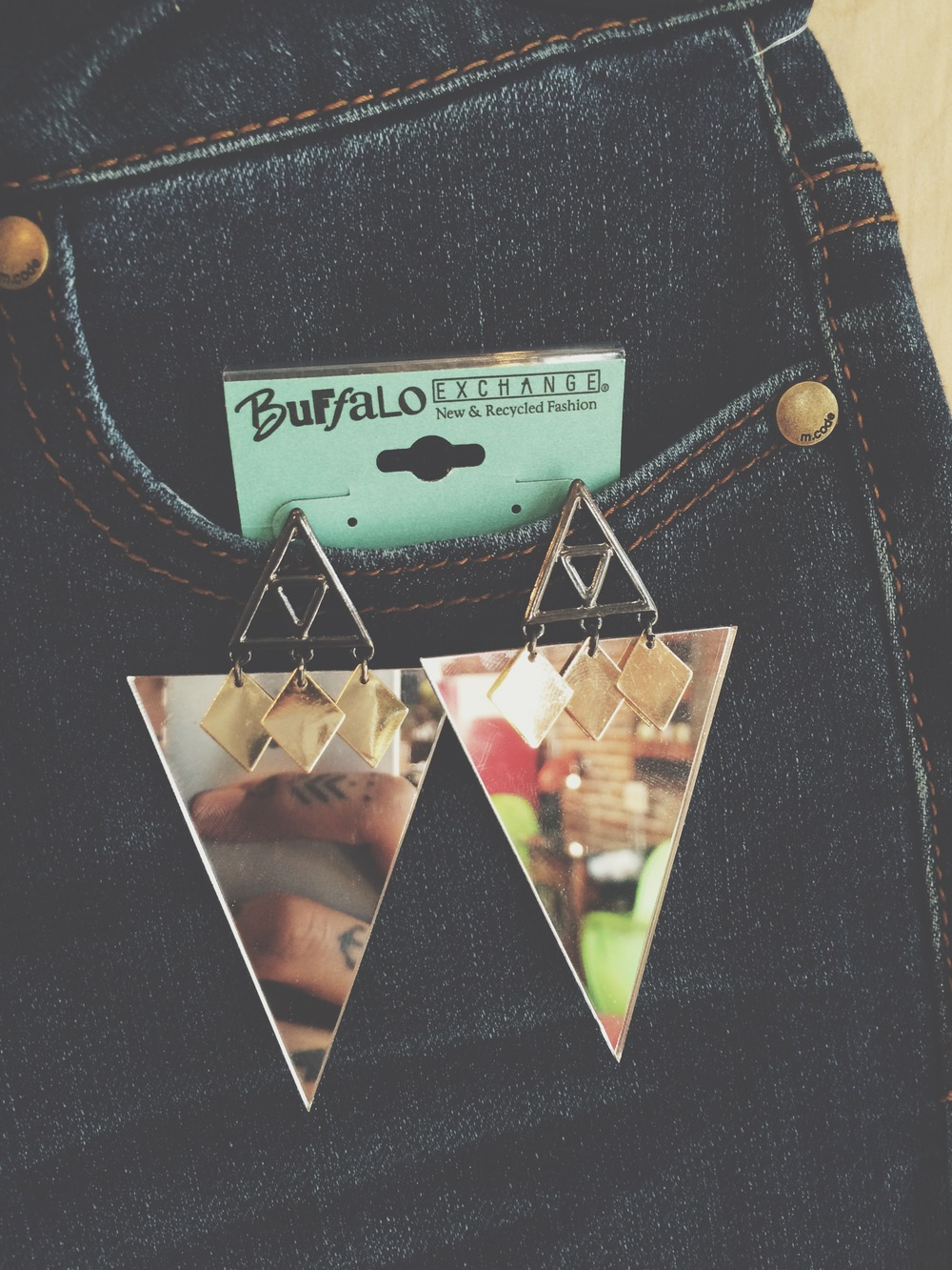 Geometric shaped earrings!