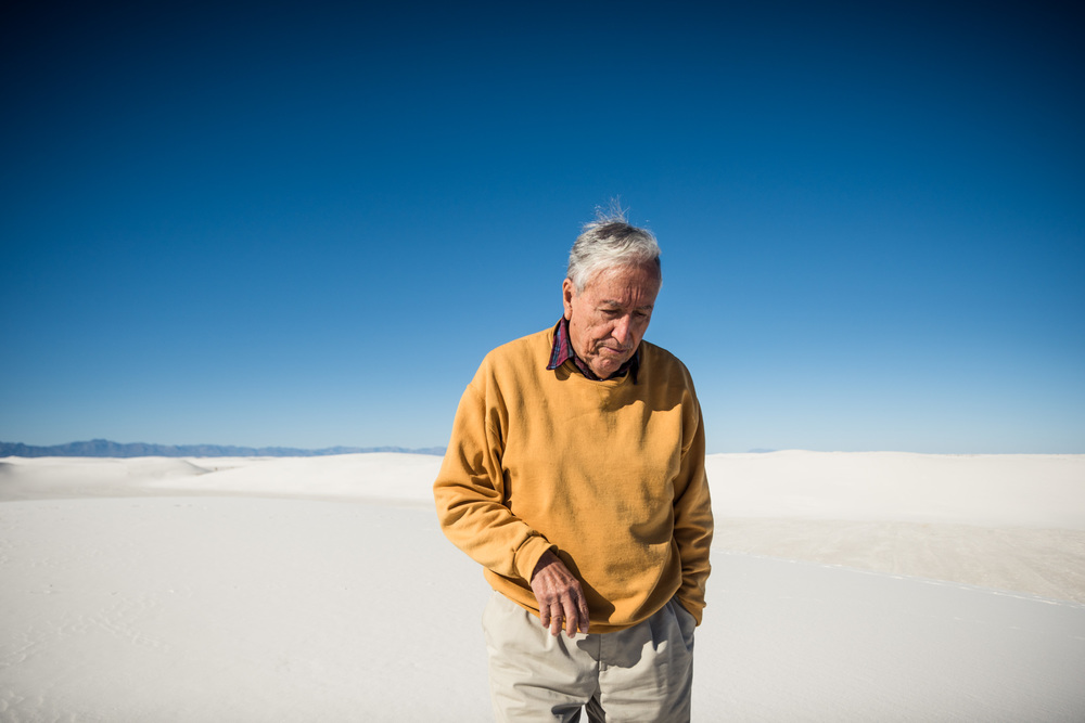 My father, Sylvester Raymond Mireles, at the White Sands, New Mexico.