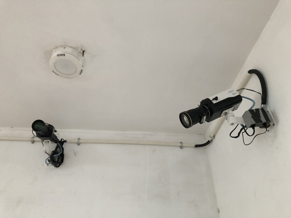 Cameras equipped with facial recognition, Longbaochen Commercial Mansion lobby