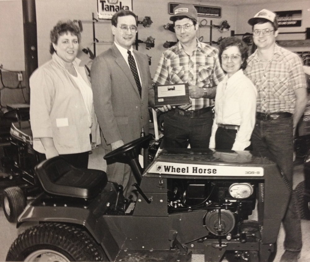 Here pictured is the Humphreys' Wheel Horse team joining the Greencaslte Chamber of Commerce in 1986