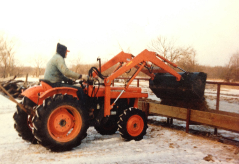 Rodney Humphreys, one of our early Kubota customers using his new Kubota.