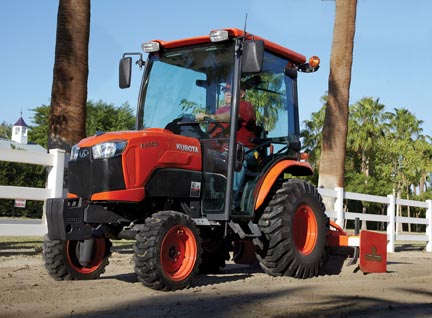 The factory installed cab on the B2650 keeps you cool in the summer and warm in the winter.