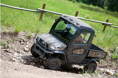 The Factory Installed Cab on the RTV X1100C Is the epitome of comfort