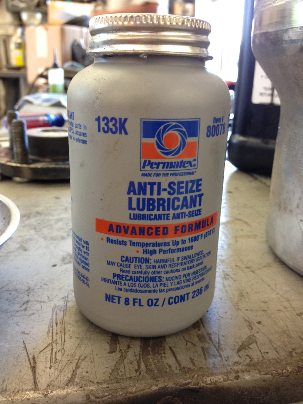 Anti Seize can be purchased from most auto parts stores
