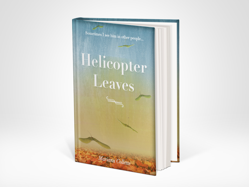 Helicopter Leaves Book cover design, June 2104