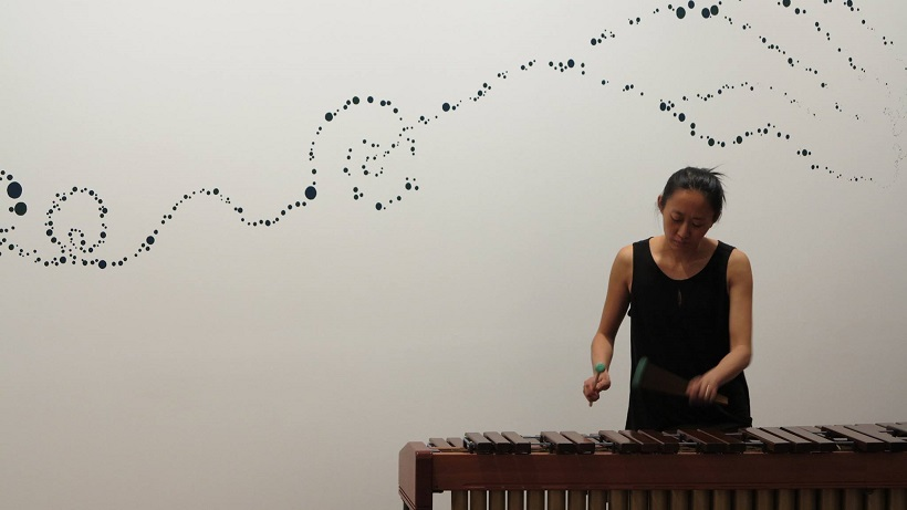 Composer, Improviser, Performer, Visual Artist - here performing 'THG' - 3 movements for a solo instrument at Town Hall Gallery, Oct 2015.