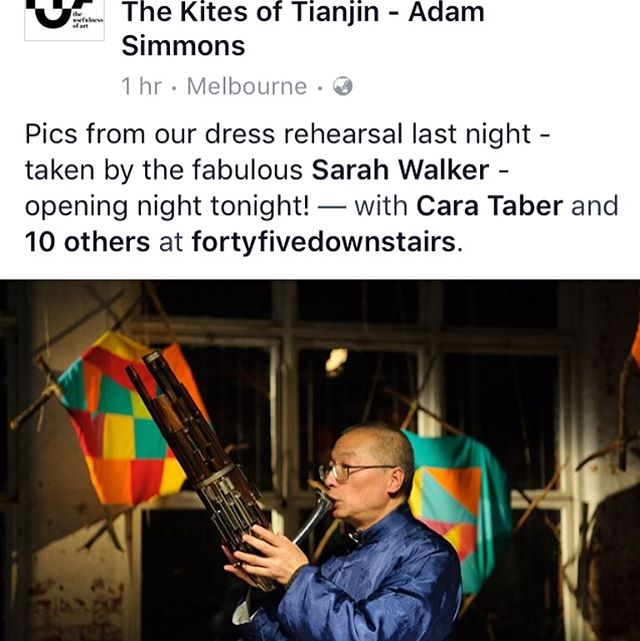 Opening tonight! Featuring the Adam Simmons Creative Music Ensemble and Wang Zheng Ting - link in bio. #TUoA #sheng