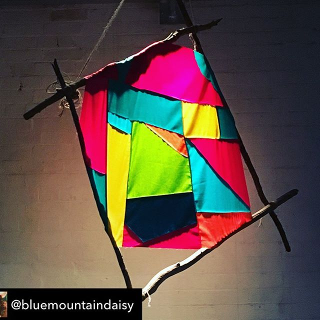 Check out the beautifully quilted kites by @bluemountaindaisy - so gorgeous to be playing under them.  Tonight and tomorrow arvo only, link in bio. - - Repost from @bluemountaindaisy using @RepostRegramApp - Up Up and away!! Opening night was outstanding! So happy I'll be there to see the next 3 performances! swipe to see glimpses of an amazing show! . #Repost @adam.simmons ・・・ The Kites of Tianjin are flying... three more shows only at @fortyfivedownstairs - tonight and Sat, 7:30pm and Sun 3pm. Thanks to @bluemountaindaisy  for her beautiful Kites, @jeanpoole for bringing the big one alive and @christine.iggypup for coordinating our fashion! And big thanks to @cityofmelbourne for their support of #theusefulnessofart . #playingwithfabric #makingkites #improvkites #artkites #setdesign #sculpture #branchingout #45downstairs #adamsimmons #adamsimmonscreativemusicalensemble #usefulnessofart #uoa  #modernjazz #jazzconcert #melbourne