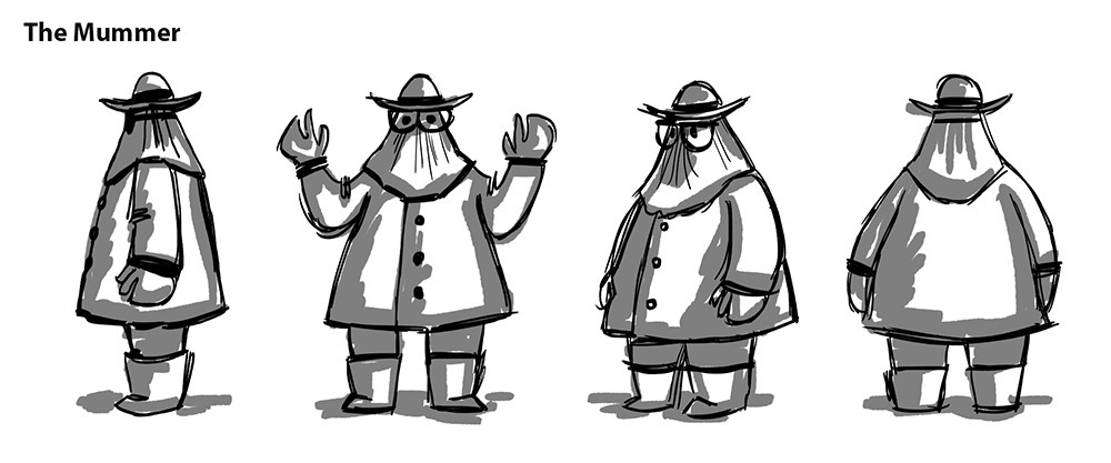 Turnarounds for a character in a game I'm working on -  the Disappearance of Emily Butler .