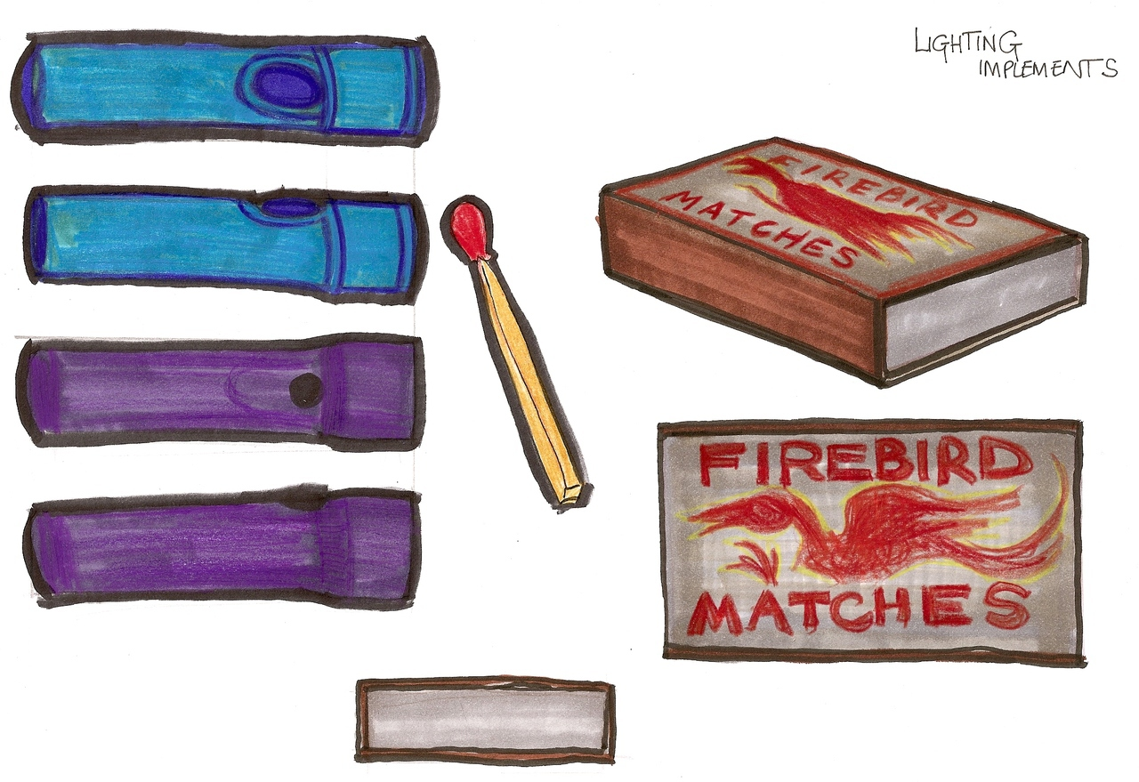 Prop designs for objects in my Sheridan graduation film,  the Message .