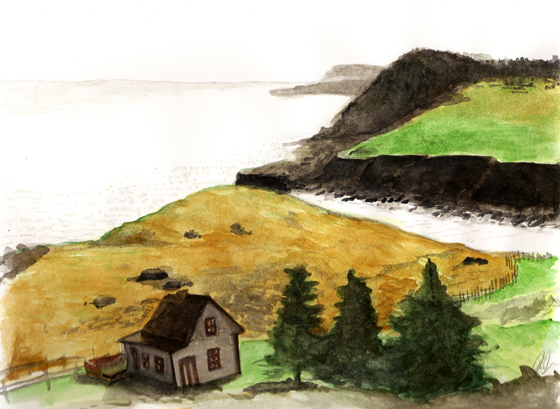 A painting I did of a coastline in Newfoundland.