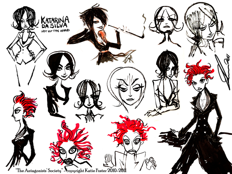 More designs for the main character in my Villains series, Katarina Da Silva.