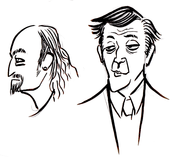 doodling some celebs whilst watching graham norton show on youtube.