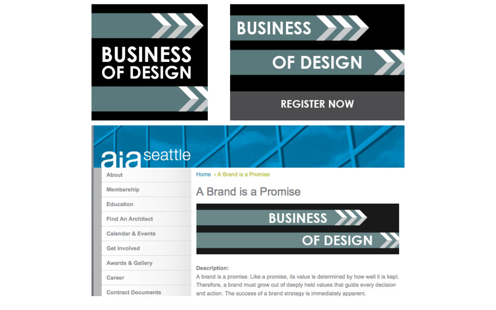 Business Series web graphics