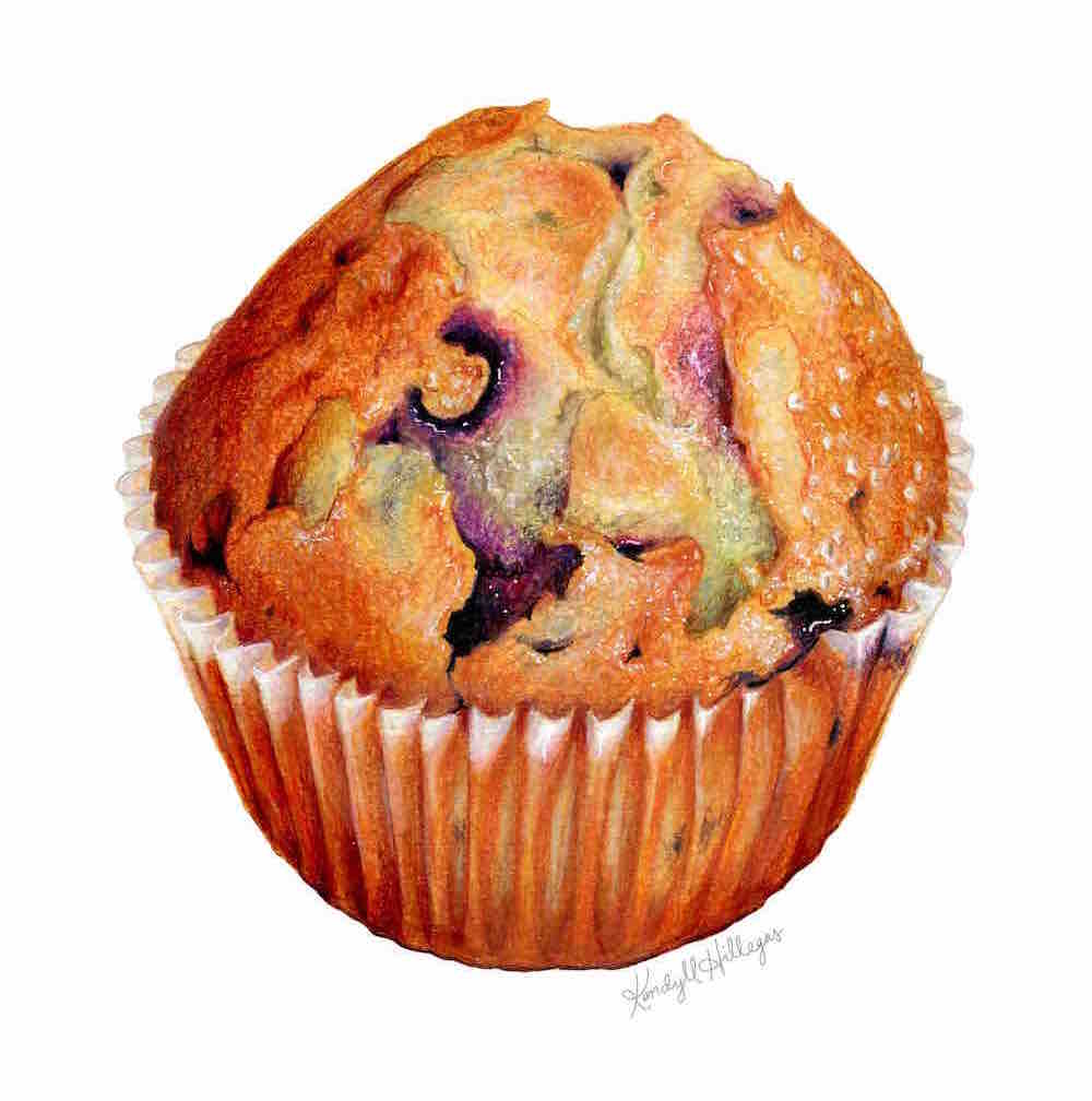 Blueberry Muffin Illustration