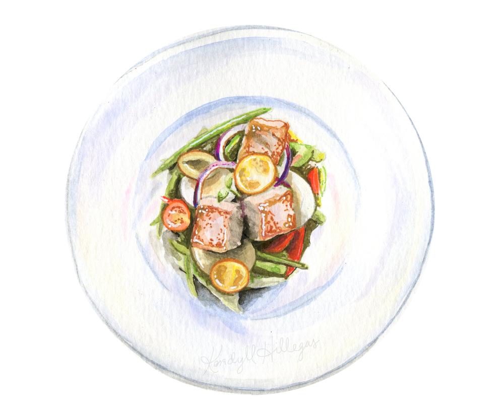 Salade Niçoise Illustration