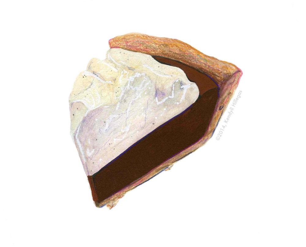 Chocolate Pie Illustration