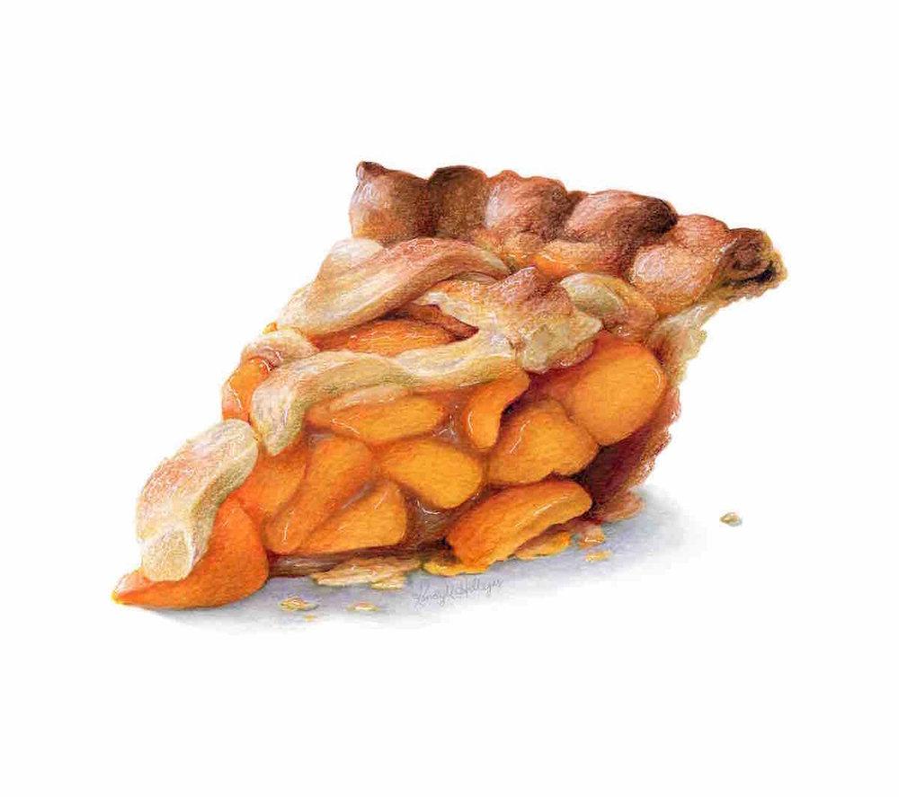 Peach Pie Illustration
