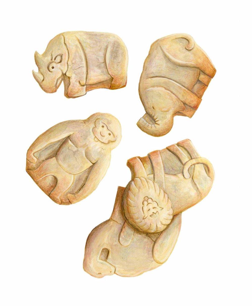 Animal Cookies Illustration