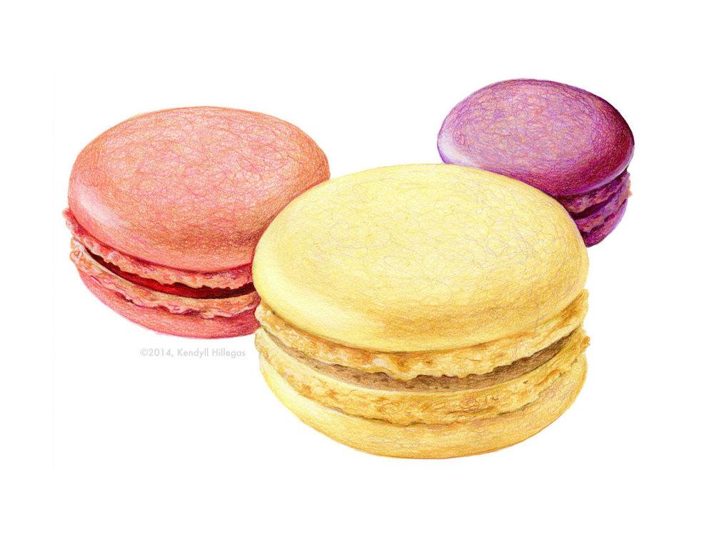 Macaron Trio Illustration