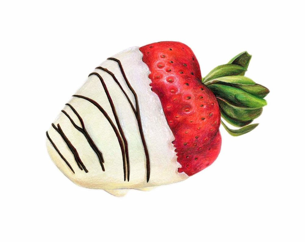 Chocolate Covered Strawberry Illustration