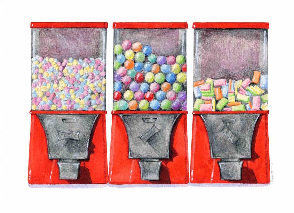 Candy Machines Illustration