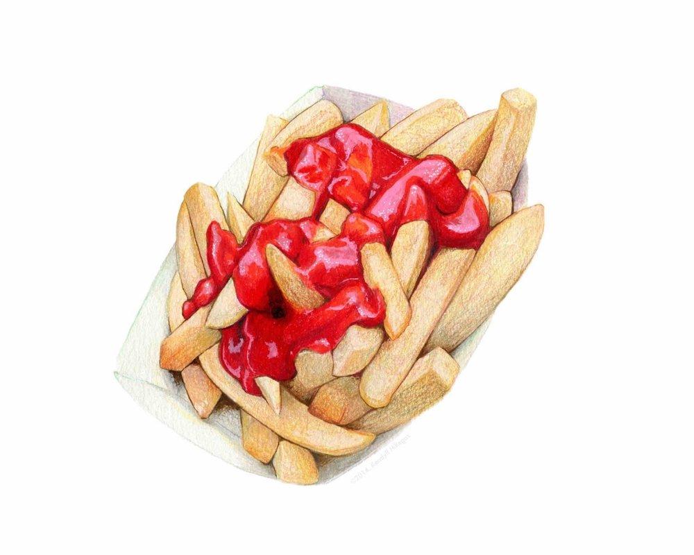 Fries & Ketchup Illustration